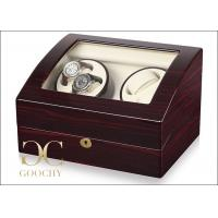 Wholesale Double Automatic Watch Winding Case , Clockwise Rotation Automatic Wrist Watch Winders from china suppliers