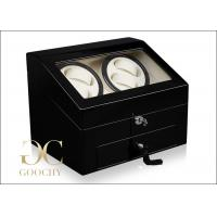 Wholesale Double Dual Watch Winder / Watch Winder Built In Drawer Storage For 6 Watches from china suppliers