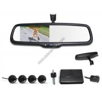 Wholesale 4.3 inch Rear view mirror Visual parking sensor CRS9437 with Reversing Camera and Sensors from china suppliers