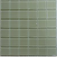 Quality 8mm Pure Color Crystal Glass Mosaic Tile, 300x300 Glass Mosaic Bathroom Tiles for sale