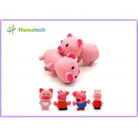 Wholesale Happy Big Family Pink Pig Customized Usb Flash Drive , Personalized Usb Key Cute Model from china suppliers