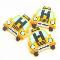 Buy cheap free sample Injection Labels Private Custom 3D Cartoon Car Logo Soft PVC Rubber Fridge Magnets for Decoration from wholesalers