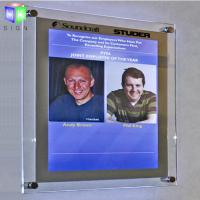 Buy cheap Decorative Poster Frame Acrylic Led Light Box For A2 Size Picture , Wall Mounted from wholesalers
