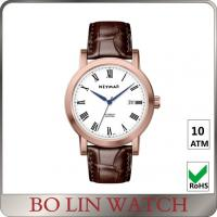 Wholesale Advanced Embossed Dial Mens Leather Bracelet Watch , Leather Womens Watches With Numbers from china suppliers