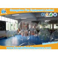Wholesale Transparent 1.5m Inflatable Hamster Footall Zorb Rolling Ball With Various Color Strings, Straps and Handles from china suppliers