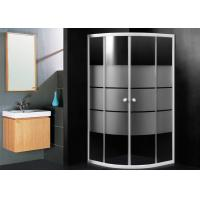 Wholesale Frosted Glass Bathroom Shower Enclosures , Sector Shape Corner Door Bathroom Shower Cubicles from china suppliers