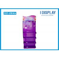 Wholesale Purple Advertising Cardboard Peg Hook Display Rack With 4 Pallet from china suppliers