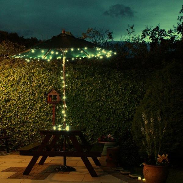 Outdoor String Lights B M: 100LED Outdoor Solar Power LED String Fairy Lights 10m