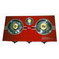 Wholesale Electric Ignition Natural Gas Hob , 3 Burner Gas Stove With Glass Top from china suppliers