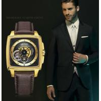 Wholesale Wholesale Megir Fashion Men Genuine Leather Strap Full Automatic Hollowing  mechanical wrist watch 62042G from china suppliers