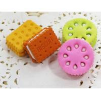 Buy cheap kids promotional gift use 3D biscuit eraser from china supplier, EN71 and lhama report from wholesalers