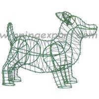 "Wholesale 9"" WIRE TOPIARY FRAME-TERRIER IN GREEN LACQUERED from china suppliers"