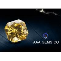 Wholesale 7mm Special Fancy Moissanite In Light Yellow For Nacklace , Rings from china suppliers