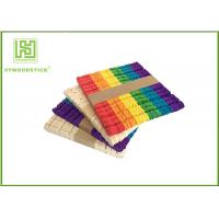 Wholesale Wooden Stained Colored Flat Craft Sticks With Various Size And Color from china suppliers
