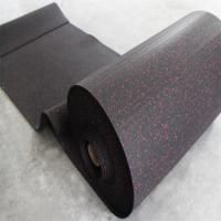 Quality Black Rubber Sports Flooring , Gym Sports Flooring Anti - Slip Feature for sale