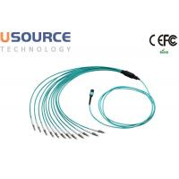 Wholesale 8 core 12 core Low Loss OM3 OM4 MTP - LC Fanout Optical MPO Cable Assemlies from china suppliers