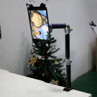 Wholesale Aluminum Flexible Black and Silver Gooseneck Tablet Holder for tea table , Wall , Car from china suppliers
