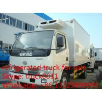 China Dongfeng 4*2 LHD  small refrigerated van and truck for sale ,4ton CLW brand refrigerator van truck for meat and fish on sale