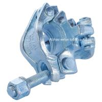 Quality EN74 Galvanized scaffolding double coupler , scaffolding tube clamps for sale