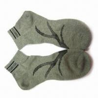 Wholesale Gray Men's Socks, Made of 65% Cotton and 35% Polyester from china suppliers