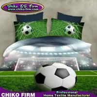 Wholesale Pure Polyester Football Design 3D Printing Duvet Cover Sets from china suppliers