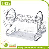 Wholesale High Quanlity Big Capacity 2 Tier Stainless Steel Kitchen Dish Rack from china suppliers