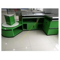 Wholesale Checkout Counter With Sensor Conveyor Belt / Cashier Desk Stand For Store from china suppliers