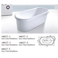Wholesale Bathtubs, freestanding Bathtub without faucet , hand shower HB627 from china suppliers