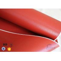 Wholesale 1mm High Temperature Bright Red silicone coated glass fabric 3784 850g/m2 from china suppliers