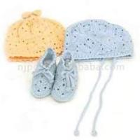 Wholesale 100% Wool ec - friendly hand crocheted baby hat, shoes, knitted baby product high quality from china suppliers