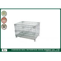 Wholesale Heavy Duty Folding Wire Storage Containers / Metal Basket Mesh pallet from china suppliers