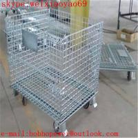 Wholesale galvanized wire mesh container/stackable storage bins/metal storage containers/ galvanized treatment storage cabinets from china suppliers