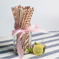 Buy cheap Brown Color Thick Paper Straws 1 Gram 1piece Long 20cm Caliber 0.8cm from wholesalers