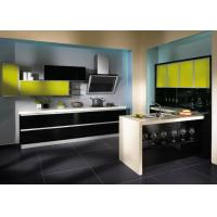 Wholesale American Style Lacquer Kitchen Cabinets Yellow Beige With Moisture Proof Board from china suppliers