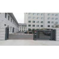 Quality Trackless Motorised Steel Iron Telescopic Sliding Gate For Stadium With Powder Coating Protection for sale