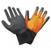 Wholesale Durable 10G knitted seamless black color Latex Coated Gloves for garden working from china suppliers