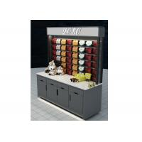 Buy cheap Grey Mobile Wall Mounted Display Cabinets Two Ways Floor Standing For Showroom from wholesalers