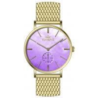 Wholesale 36.0mm MOP dial  mesh band  stainless steel watches for women ,dual time luxury wrist steel watch from china suppliers