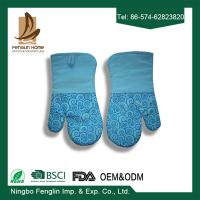 Wholesale Heat Resistant Useful Home Kitchen Oven Mitts With Silicone Coated Bbq Cooking Gloves from china suppliers