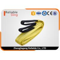 Quality Yellow Ply Flat Eye Sling , Polyester Webbing Sling For Lifting Loads for sale