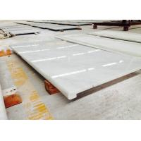 Wholesale White / Beige Marble Bathroom Vanity Countertops Polished Solid Surface from china suppliers