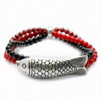 Wholesale Garnet Bracelet, Customized Colors Available, Made of 925 Silver Material from china suppliers