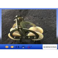 Wholesale 25KN Tandem Sheaves Conductor Stringing Blocks With Nylon Wheel from china suppliers