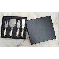 Wholesale full stainless steel cheese knife set in black box from china suppliers