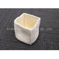 Wholesale Square Bottom Crochet T - Shirt Basket Durable Crochet Laundry Basket Retangular from china suppliers