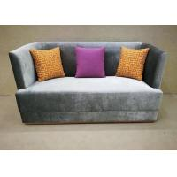Quality Dark Grey Fabric Hotel Lobby Sofa / Fashion Sofa Three Upholstered Seat for sale