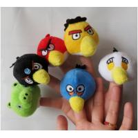 Wholesale The Small Bird Plush Finger Puppets For Babies , Yellow / Red / Blue from china suppliers