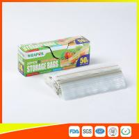 Wholesale Clear Reclosable Plastic Food Storage Bags Zip Seal With Private Lable from china suppliers