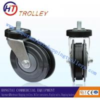Buy cheap Normal 5 inch TPR Shopping Trolley Spare Parts Ground Castor for Logistics from wholesalers