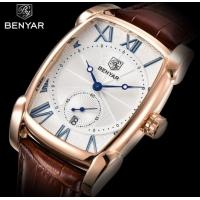 China Wholesale Benyar Men Genuine Leather Band Retro Casual and Business Quartz Wrist Watch BY-5114 for sale